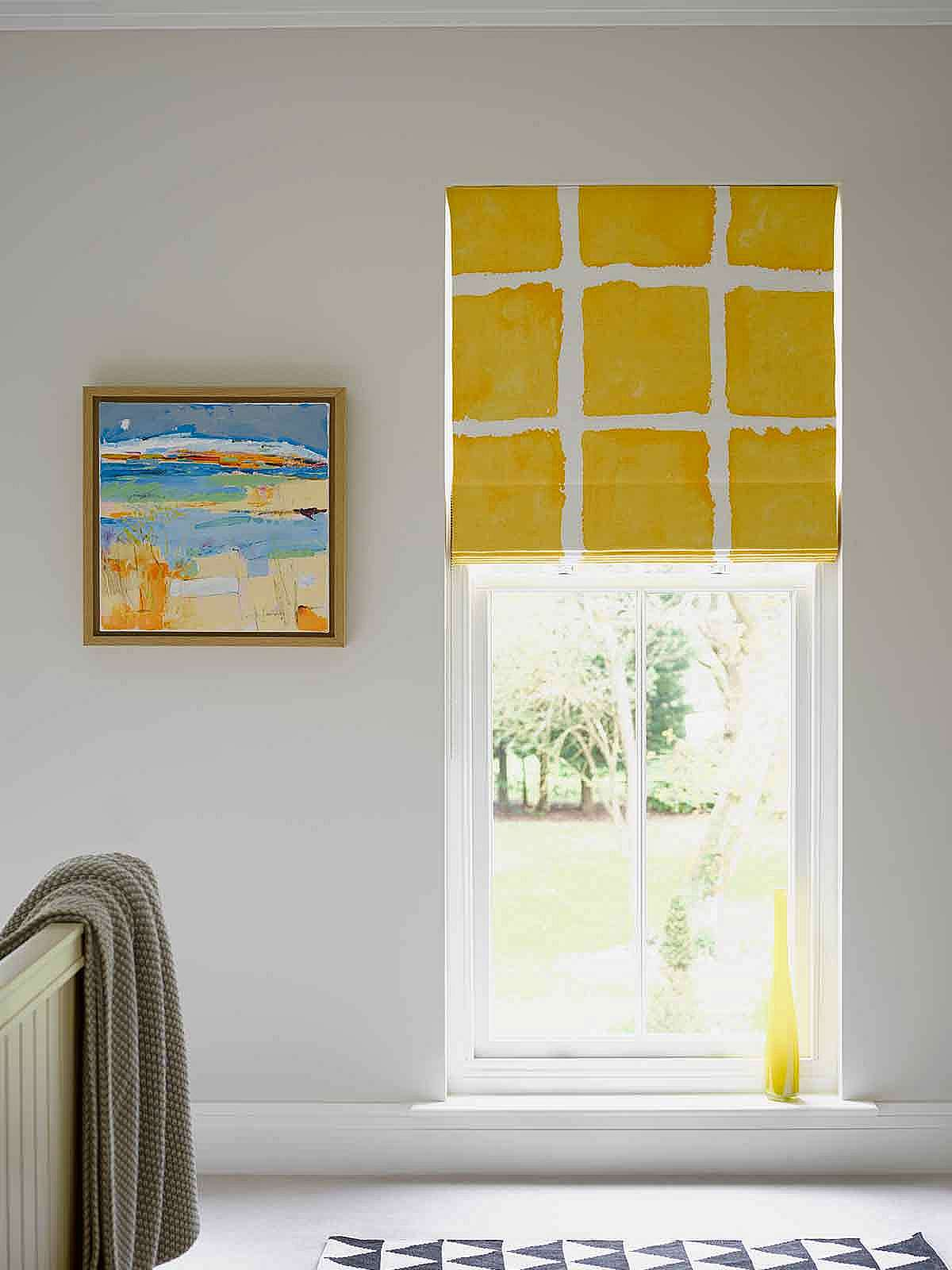Blackout lined Roman blind